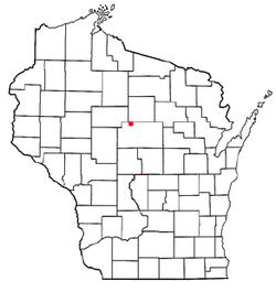 Location of Halsey, Wisconsin
