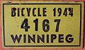 WINNIPEG MANITOBA 1944 -BICYCLE PLATE - Flickr - woody1778a.jpg