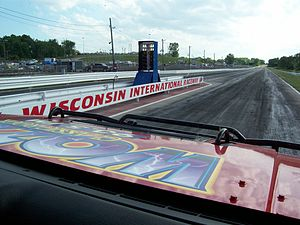 Wisconsin International Raceway - Looking down the drag strip
