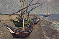 WLANL - efraa - vissersboten op het strand van les saintes-maries-de-la-mer Vincent van Gogh 1888.jpg