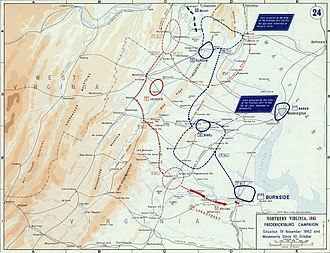 Battle of Fredericksburg - Fredericksburg Campaign, Situation 19 November 1862 and Movements Since 10 October.