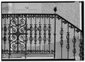 WROUGHT-IRON RAILING OF FRONT STOOP - Dr. John Frissell House, 54 Fourteenth Street, Wheeling, Ohio County, WV HABS WVA,35-WHEEL,32-3.tif