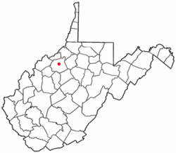 Location of Harrisville, West Virginia