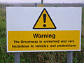 Wakering Stairs danger sign - geograph.org.uk - 299781.jpg