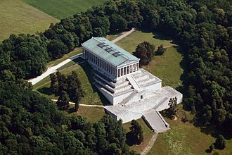 Aerial view of the Walhalla memorial of Ludwig I Walhalla Aerial View.JPG