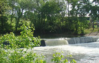 Elkhorn Creek (Kentucky) - Wallace Dam on North Elkhorn Creek in Scott County.