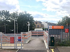 Walthamstow Queen's Road Station (Exeter Road Entrance).jpg