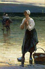 Breton fisherwoman.