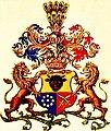 Wappen der Freiherren Nikolaus und Georg von Hormuzaki von 1881.jpg