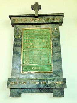 Church memorial, designed in 1920 for Malvern Presbyterian Church, Melbourne War Memorial at Malvern Presbyterian Church.jpg
