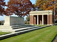 War stone, Bard Cottage cemetery.jpg