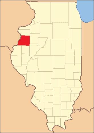 Warren County, Illinois - Image: Warren County, Illinois 1835