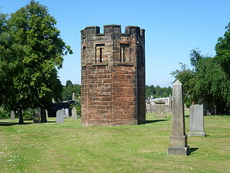 Burke and Hare murders - Graveyard watchtower, built in Dalkeith in 1827