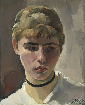 Renée Sintenis - Renée Sintenis; portrait by her husband, Emil Rudolf Weiß (1915)