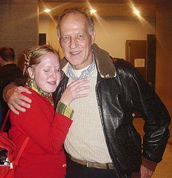 Werner Herzog e uma fã em uma première em Seattle, 2005