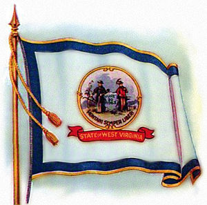 Flag of West Virginia - Image: West Virginia Flag 1922