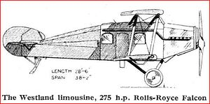 Westland Limousine line drawing