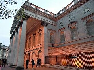 Westmoreland Street - Bank of Ireland, College Green, seen from Westmoreland Street, Dublin, Ireland