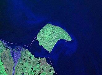 Herschel Island - NASA Landsat pseudocolour photo of Herschel Island