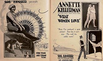 Sol Lesser - Ad for What Women Love (1920)