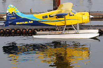 Vancouver Harbour Flight Centre - A Whistler Air de Havilland Canada DHC-2 Beaver docked at Vancouver Harbour Water Airport