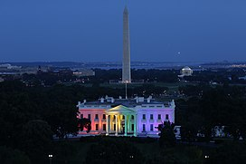 White House with LGBT Rainbow colors.jpg