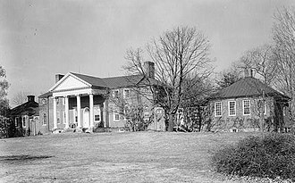 Whitehall (Annapolis, Maryland) - Whitehall in 1936 with second story, later removed in restoration work