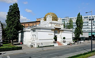 Vienna Secession - The secession building at Vienna, built in 1897 by Joseph Maria Olbrich for exhibitions of the secession group