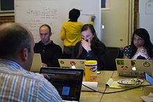 Wikimedia Foundation SOPA War Room Meeting 1-17-2012-1-5.jpg