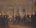Wilhelm Marstrand - Musikalsk aftenselskab hos grosserer Waagepetersen - 1834.png