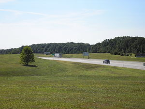 Will Rogers Turnpike - Eastern terminus of the Will Rogers Turnpike at the Oklahoma–Missouri state line