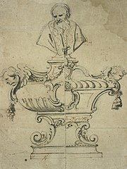 Design for a reliquary shrine with bust