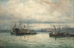 William Anslow Thornley - Unloading the cargo.jpg