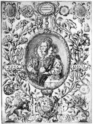 William Rogers (engraver) - Image: William Rogers Elizabeth I Rosa Electa