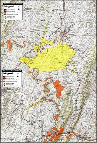 Battle of Williamsport - Image: Williamsport Battlefield Maryland