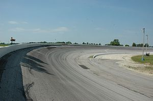 Winchester Speedway - Looking backwards at Turn 2