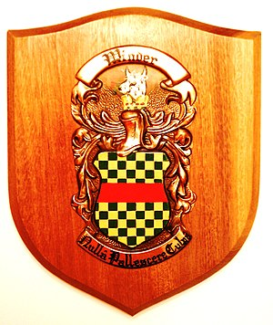 Winder (surname) - Image: Winder Family coat of arms