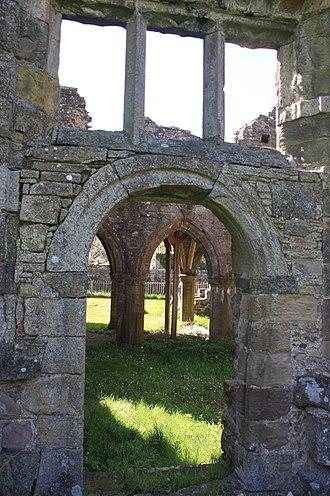 Balmerino Abbey - Window and door details at Balmerino Abbey