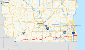 Wisconsin Highway 11 - Image: Wis 11 map