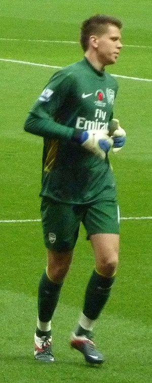 Wojciech Szczęsny - Szczęsny in action with Arsenal in November 2011