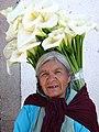 Woman Flower Vendor - Valle de Bravo - Mexico (16487480391).jpg