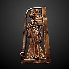Woman with an emblem of Hathor-E 4954