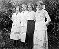 Women, garden, summer, ribbon Fortepan 8206.jpg