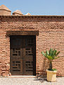 Wooden door, Alcazaba gardens, Almeria, Spain.jpg