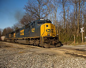 Old Main Line Subdivision - Eastbound coal train on the Old Main Line Subdivision at Monrovia