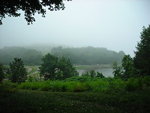 World's End (Hingham) - World's End on a foggy summer day