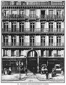 House of Worth at 7 rue de la Paix, Paris in 1894