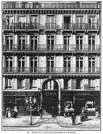Charles Frederick Worth - The House of Worth at 7 rue de la Paix became a meeting point for high society