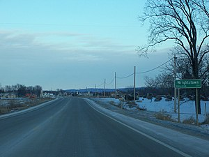 Wrightstown, Wisconsin - Image: Wrightstown Wisconsin Sign