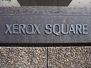 Xerox Tower - Image: Xerox Square plaque